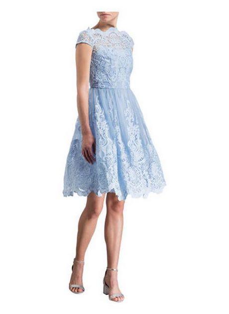 damen kleid hellblau