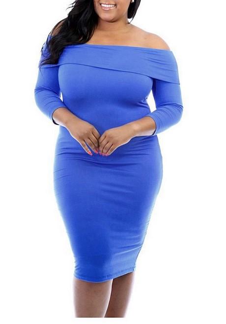 Kleid blau rückenfrei