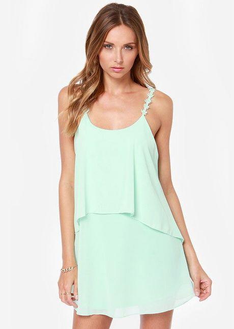 Kleid grün rückenfrei