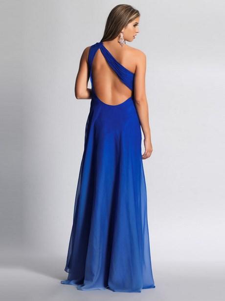 Kleid rückenfrei blau