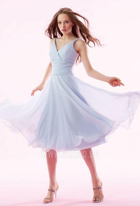 kleid türkis knielang
