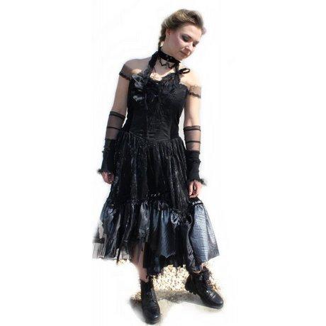 kleid wadenlang schwarz