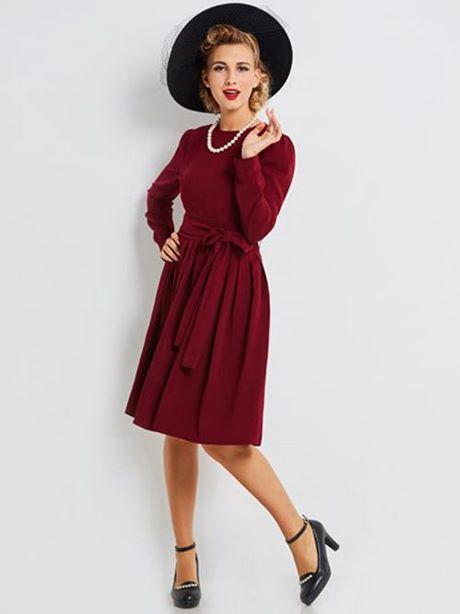 Langes langärmliges kleid