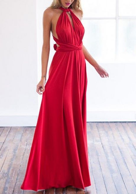 Rote kleider rückenfrei
