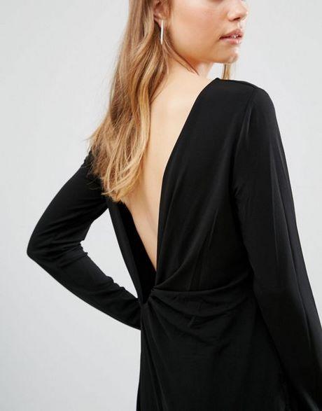 Schwarzes Kleid Tiefer Ruckenausschnitt