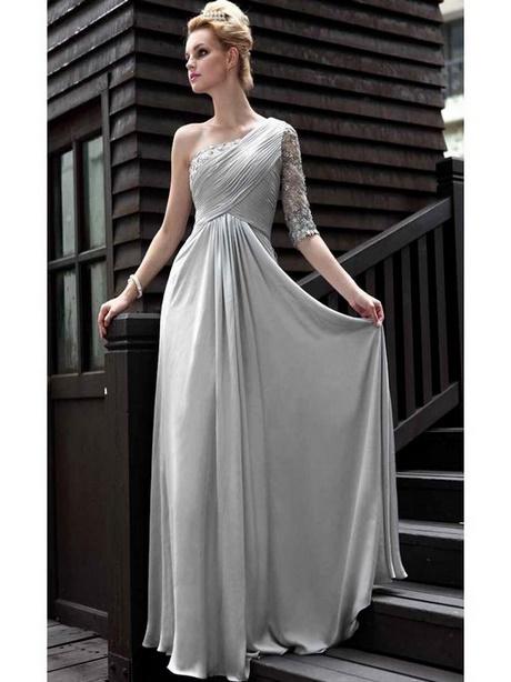 Abendkleid lang grau