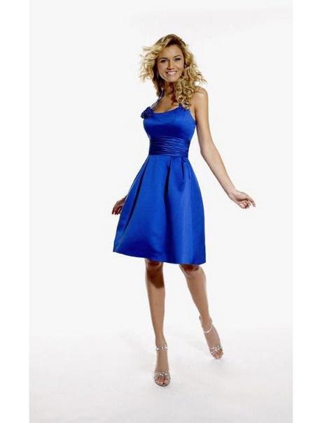 cocktailkleid blau knielang