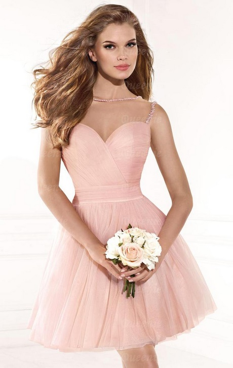 cocktailkleid rosa kurz