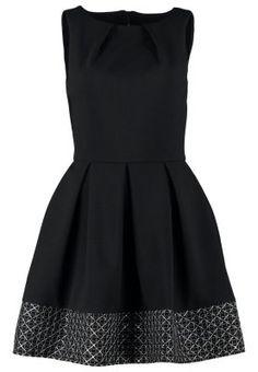 cocktailkleid schwarz glitzer