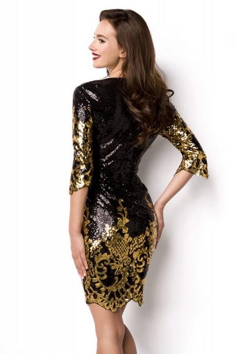 Kleid pailletten silber