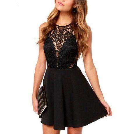 schwarzes kleid mit glitzer