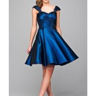 Blau kleid
