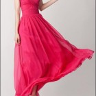 Langes chiffonkleid