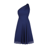 One shoulder kleid blau