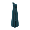 One shoulder kleid lang
