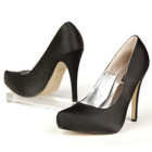 Pumps satin schwarz