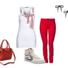 Rotes outfit