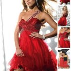 Rotes partykleid