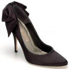 Schwarze satin pumps