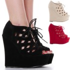 Wedge high heels