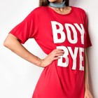 Rotes t shirt kleid