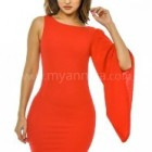 Rotes enges kurzes kleid