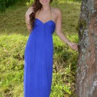 Maxikleid royalblau