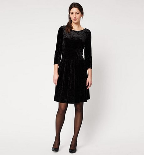 Samtkleid damen