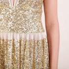 Paillettenkleid gold lang