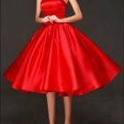 Rotes cocktailkleid knielang